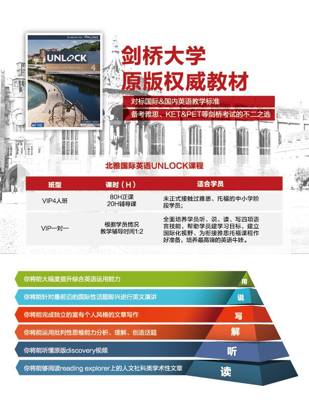 北雅国际英语Unlock单页